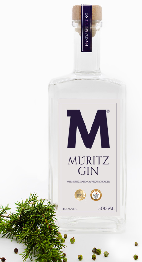 Eine Flasche Müritz Gin
